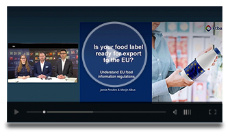 Webinar Food label ready for export to EU