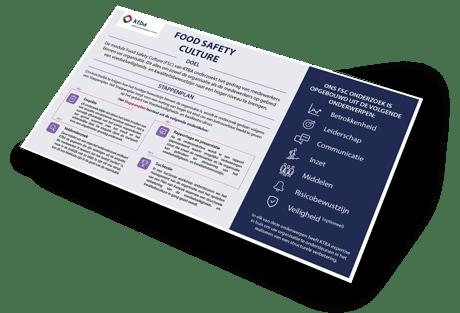 Download stappenplan Food safety culture